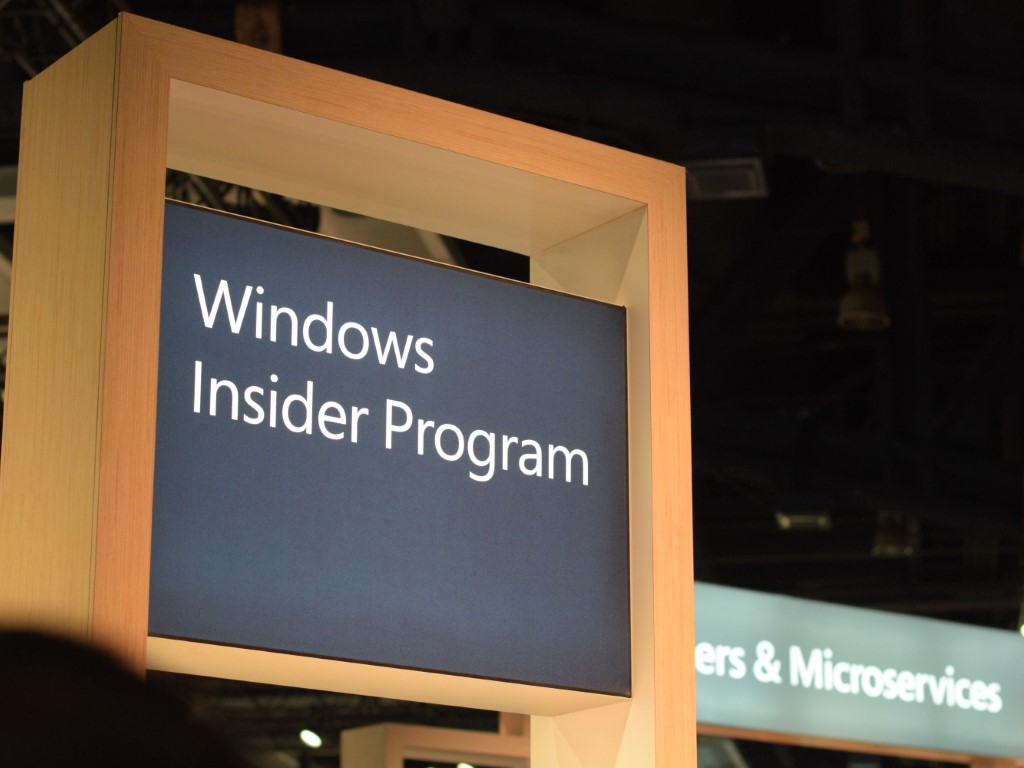Windows Insider Program sign