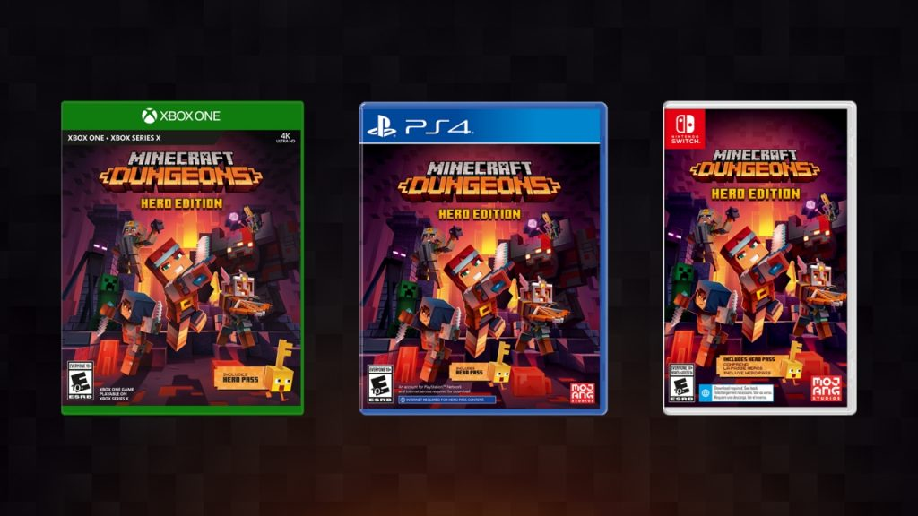 Minecraft Dungeons physical edition