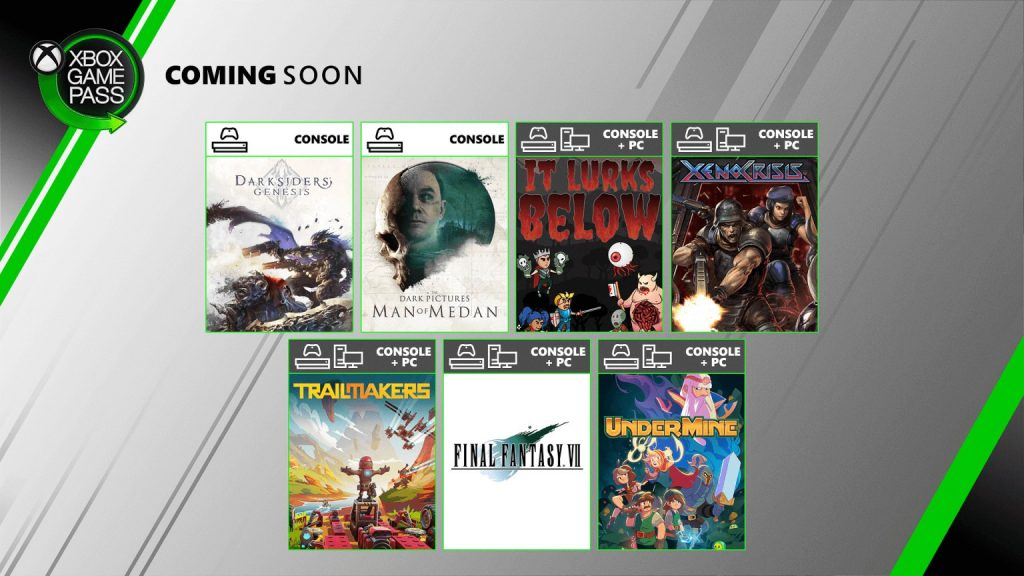 Xbox Game Pass august 2020 Update