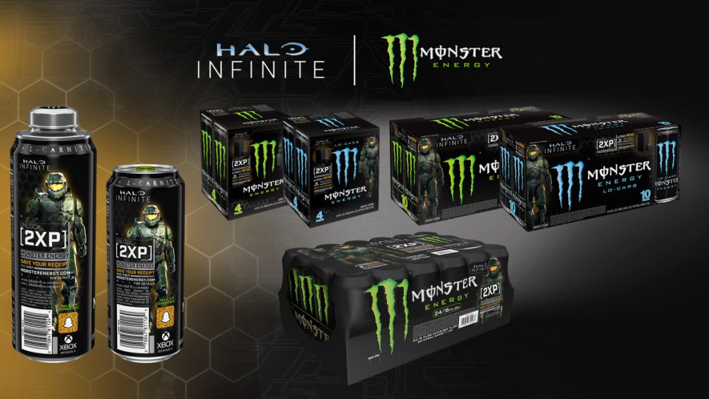 Monster Energy Halo Infinite cans