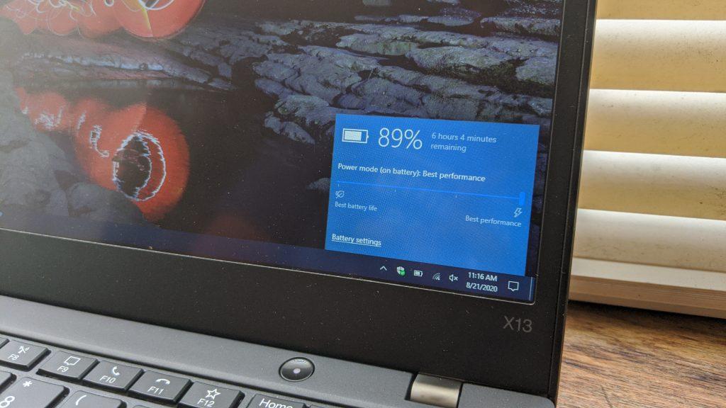 Lenovo Laptop Battery Life