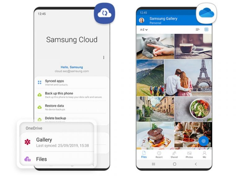 Samsung Cloud Onedrive