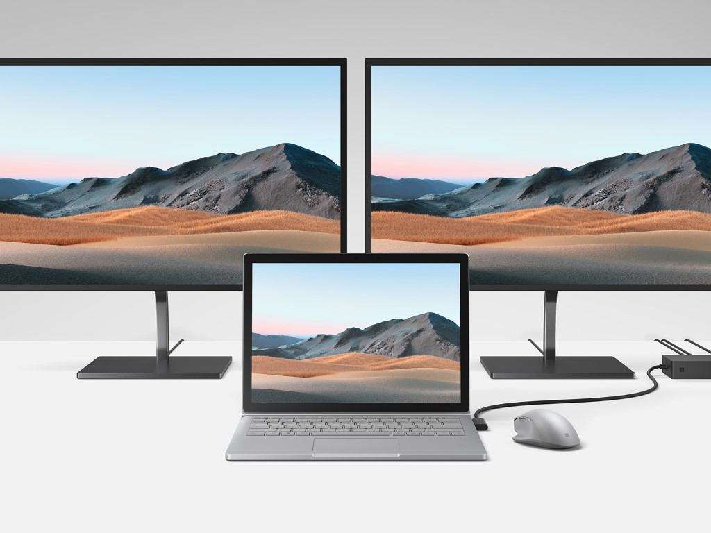Surface book 3 connected to surface dock 2