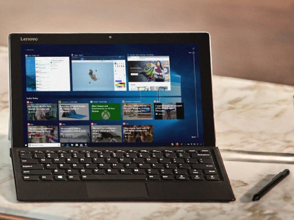 Windows 10 Lenovo tablet