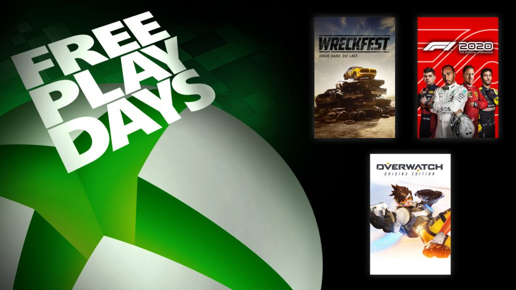 Xbox Free Play Days August 20 2020