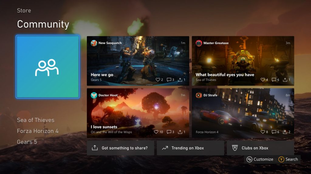 Xbox One August 2020 Update Content Blocks Home Dashboard