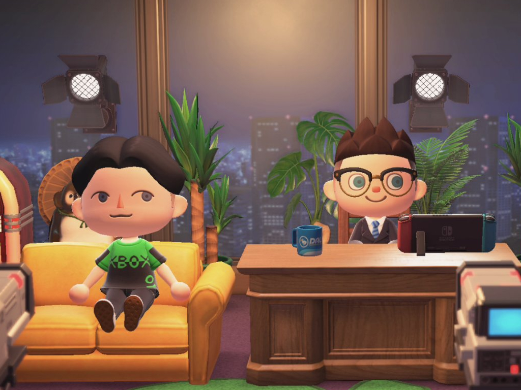 Animal Crossing video game on the Nintendo Switch