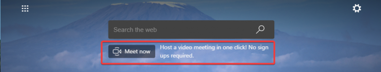 Edge Skype Meet Now