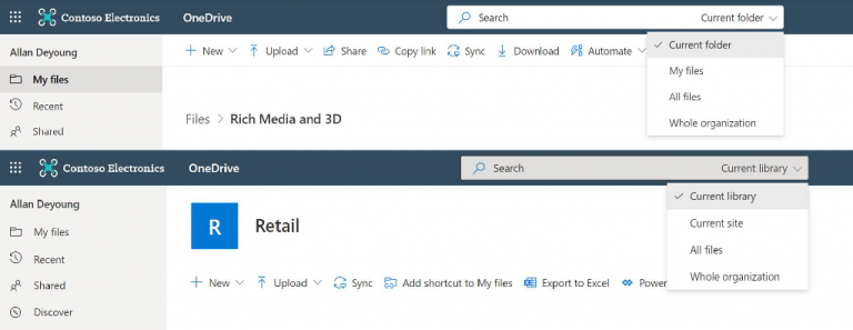 OneDrive for Business New Search Experience