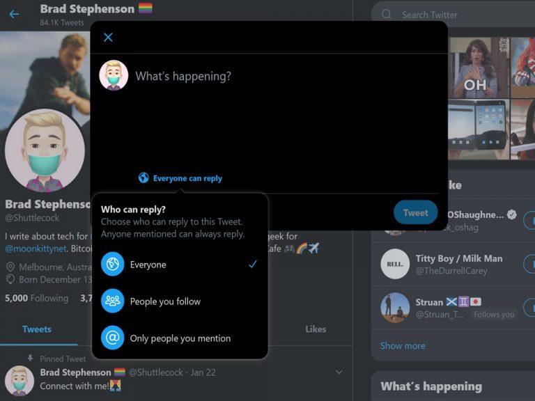 Twitter app on windows 10.