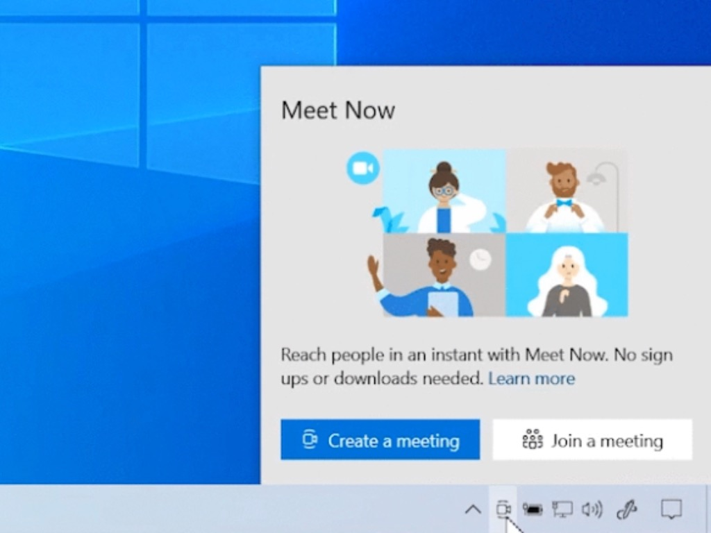 Skype Meet Now Button In Windows 10 Build 20221