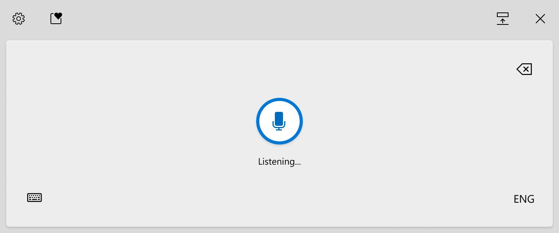 Windows 10 voice keyboard