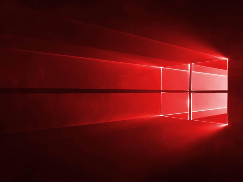 Windows 10 Hero Wallpaper In Red