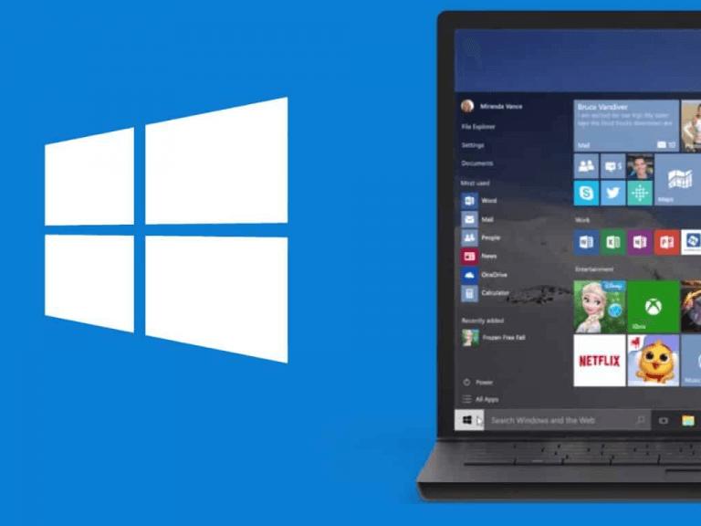 Windows 10 Logo And Pc