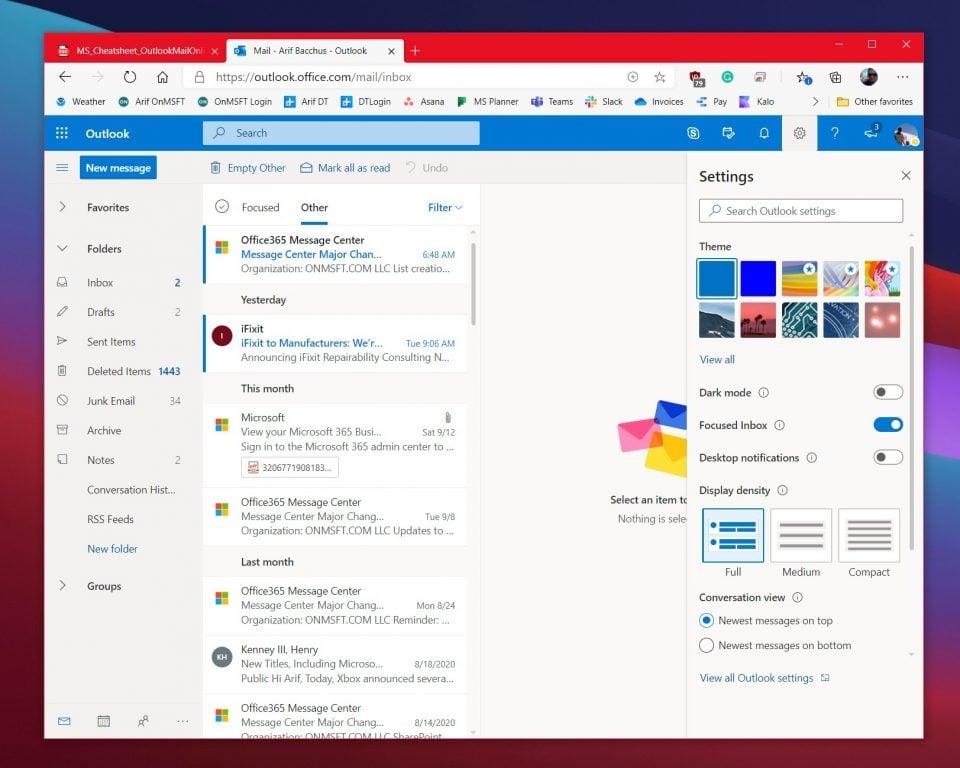 Focused Inbox Outlook