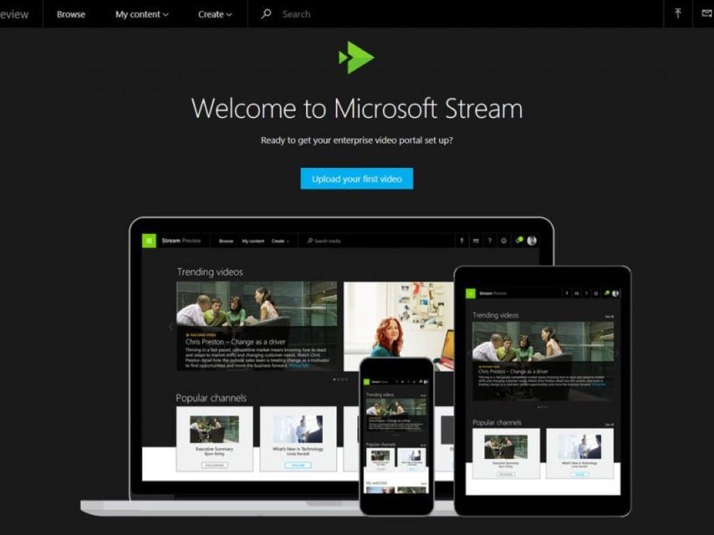 Microsoft Stream Homepage
