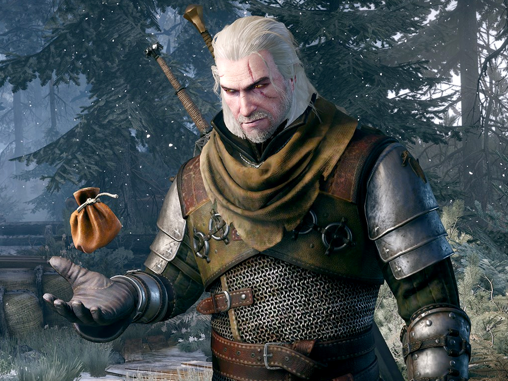 The Witcher 3: Wild Hunt video game on Xbox One and Xbox Series X.