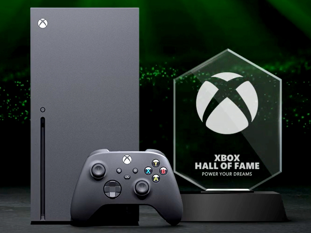 Xbox Series X and Xbox Hall of Fame award.