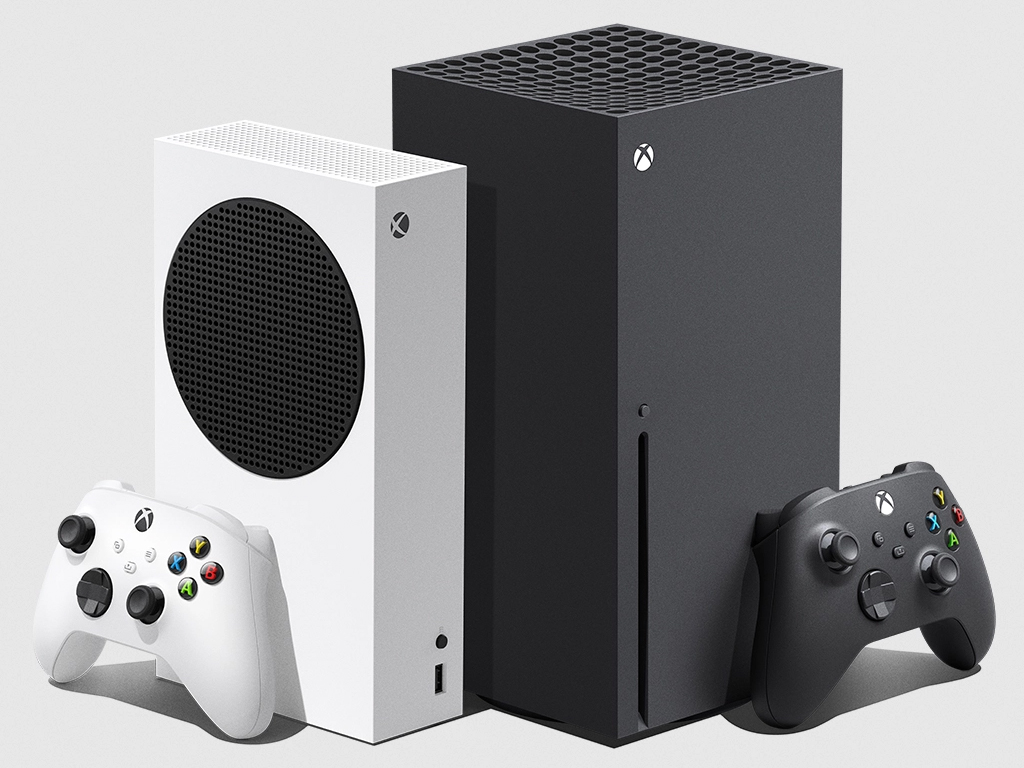 Xbox Series S and Xbox Series X video game consoles.