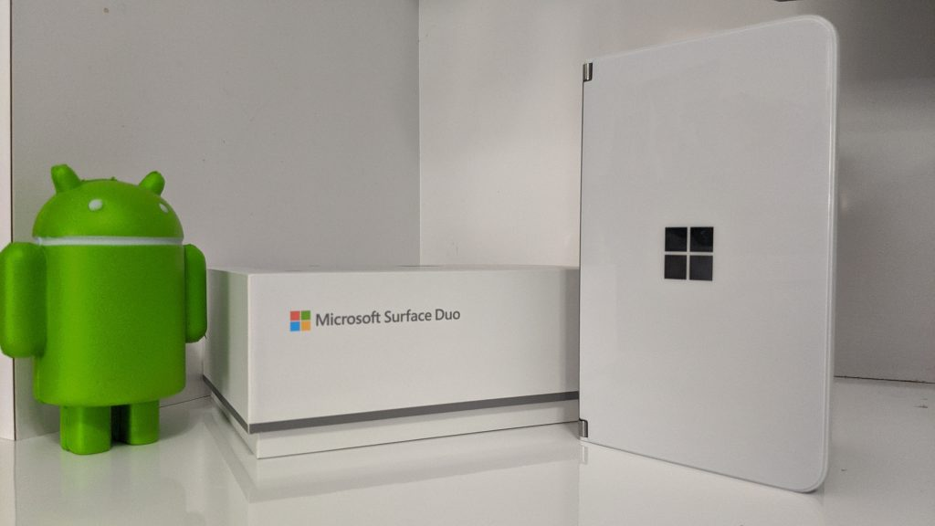 Microsoft Surface Duo And Box