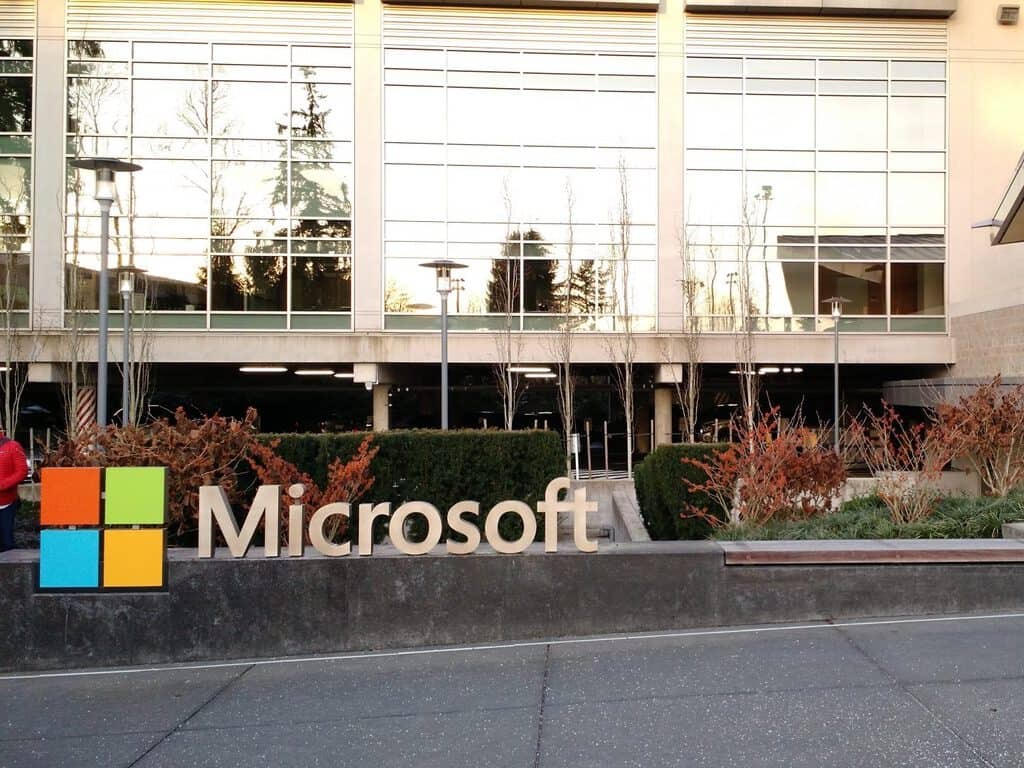 Microsoft Sign Campus