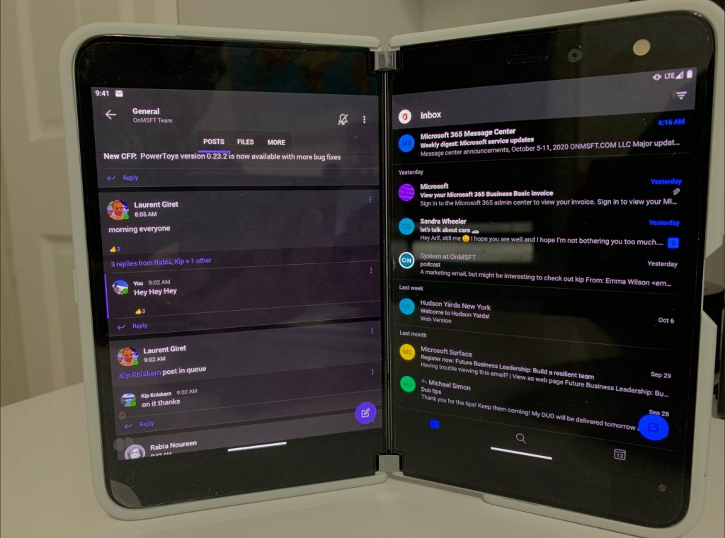 Surface Duo Apps Span With Teams