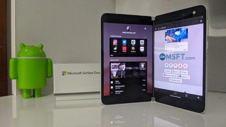 Surface duo screen