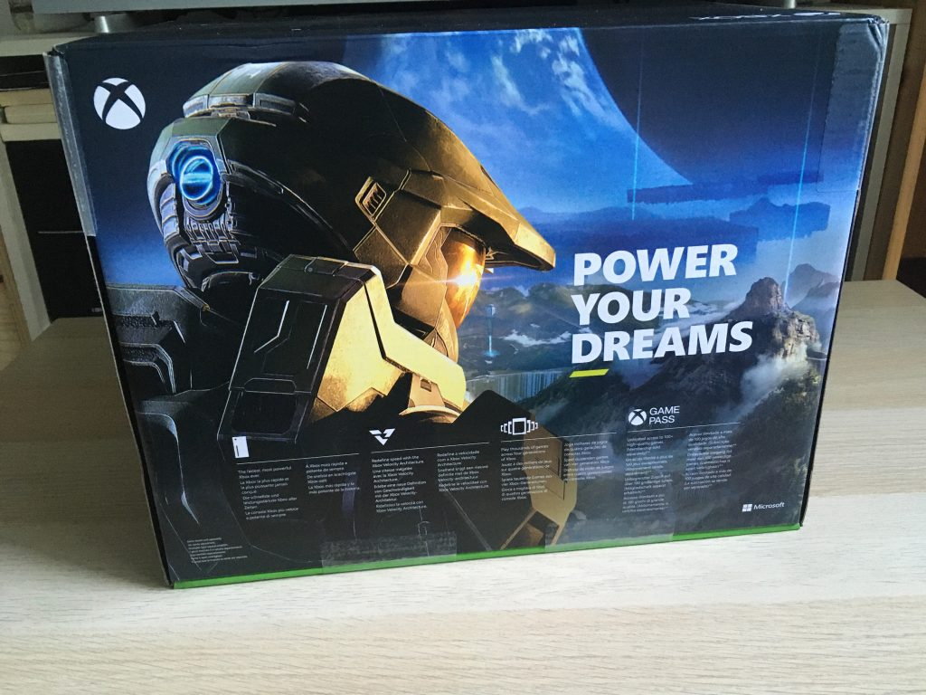 Xbox Series X Retail Box Back