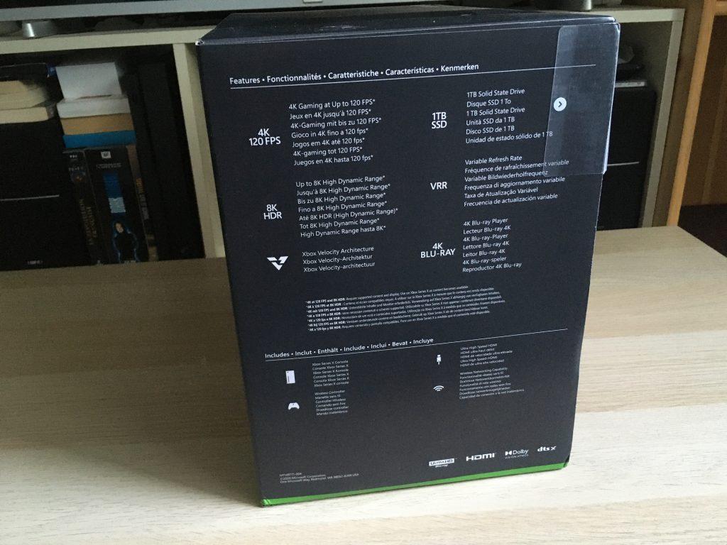 Xbox Series X Retail Box Left Side