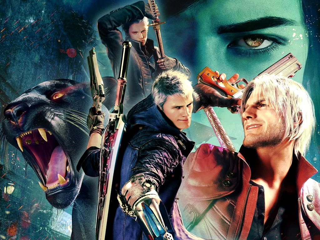 Devil May Cry 5 video game on Xbox Series X.