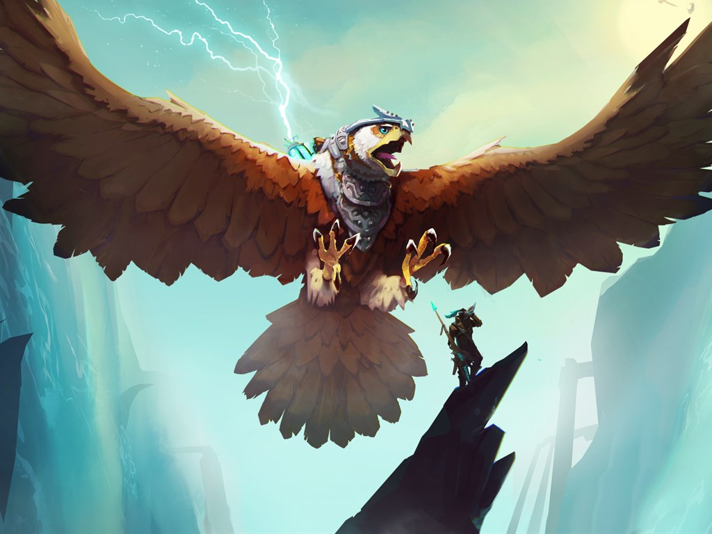 The Falconeer video game on Xbox One and Xbox Series X