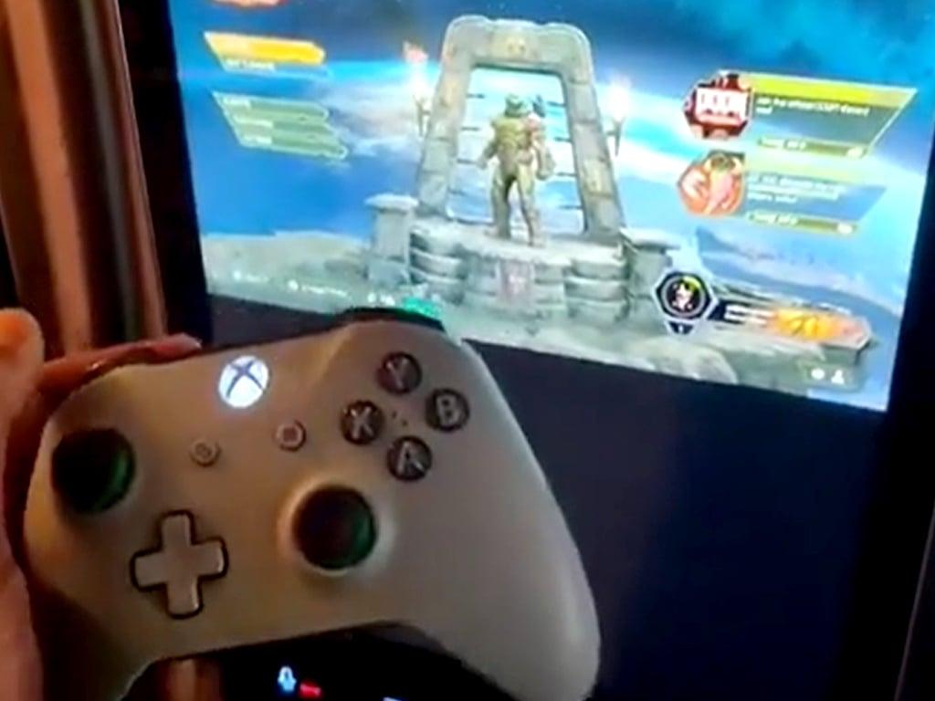 Xbox cloud gaming on a fridge