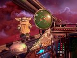 Baby Yoda in Star Wars Squadrons video game on Xbox One and Xbox Series X