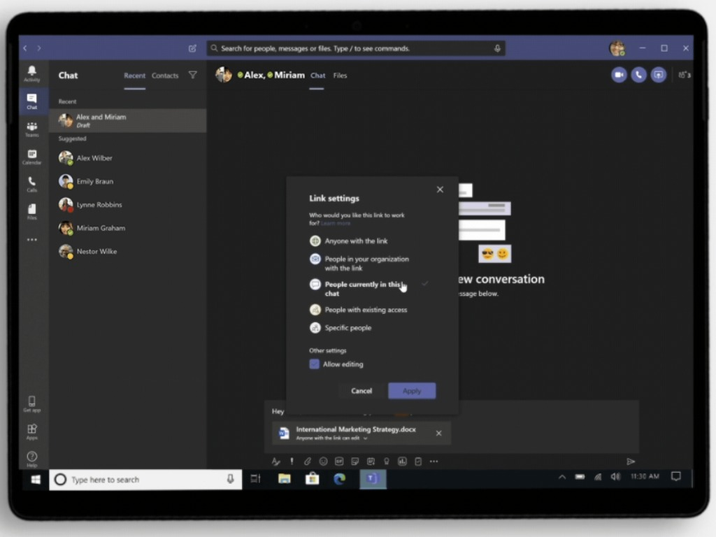 Microsoft Teams New File Sharing Experience