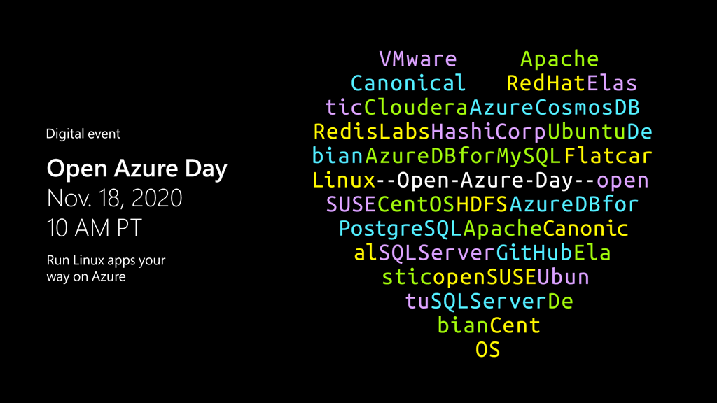 Microsoft Open Azure Day event