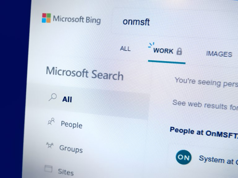 Photo showing Microsoft Search in Bing