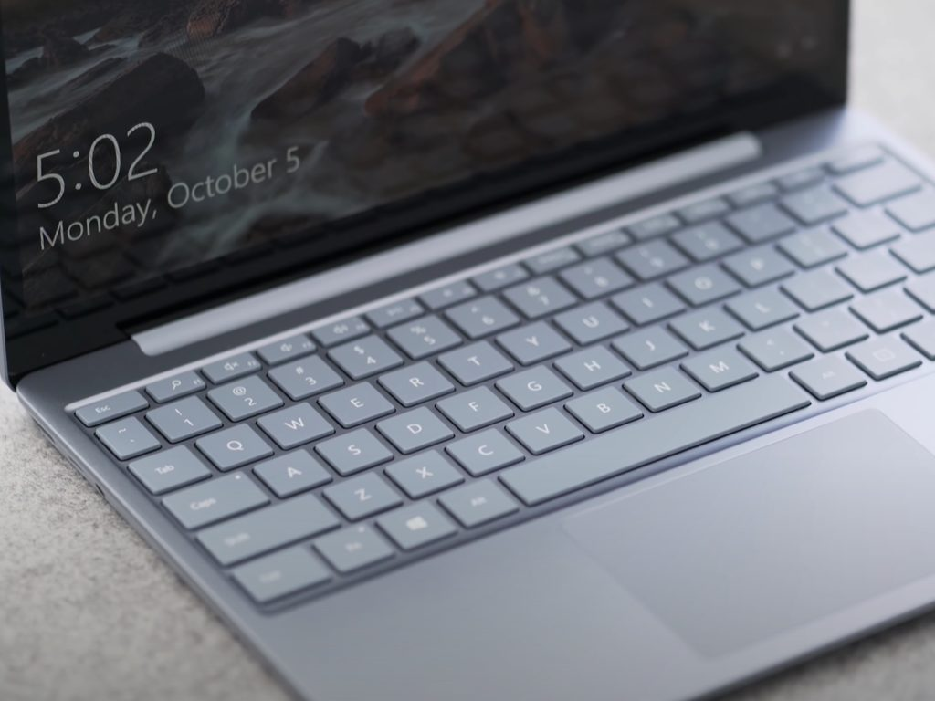 Surface laptop go keyboard cropped