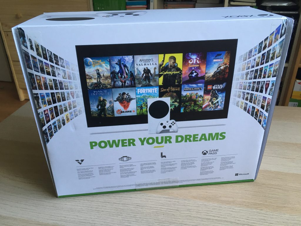 Xbox series s box back