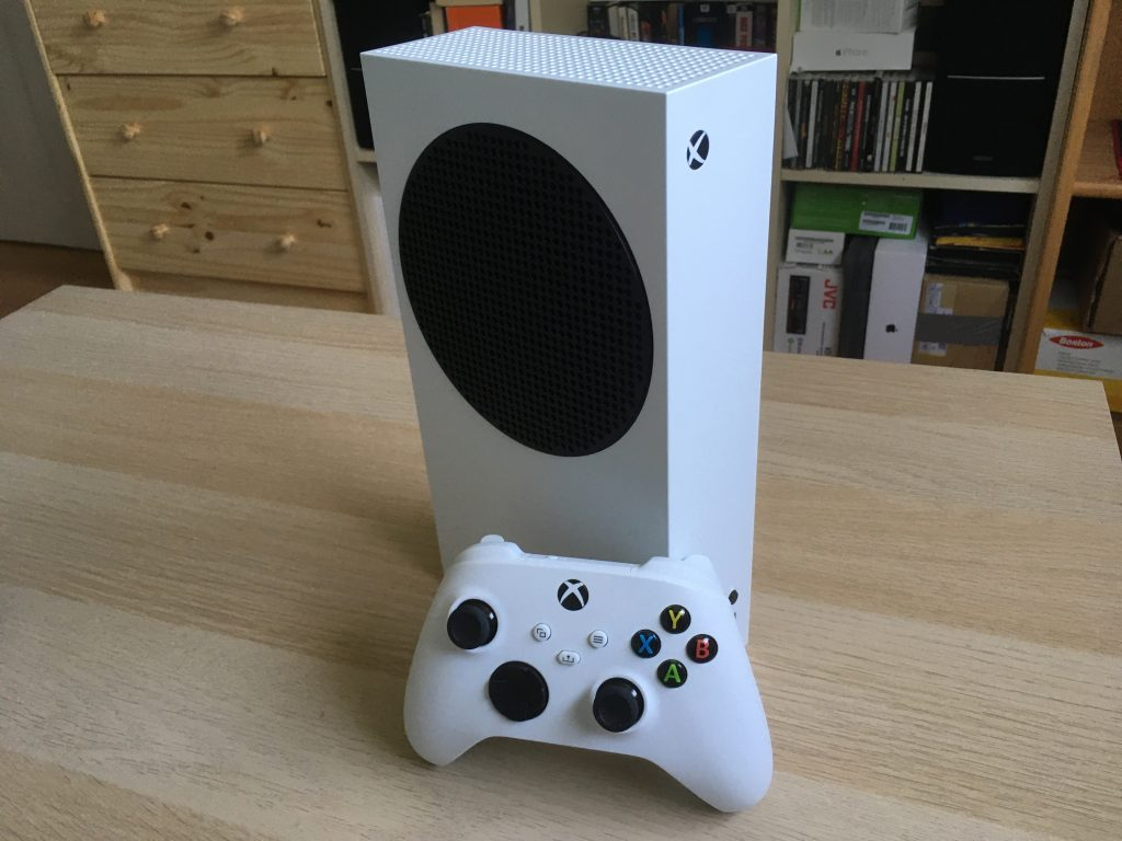 Xbox Series S In Vertical Position