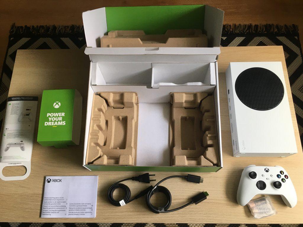 Xbox series s retail box inside 3