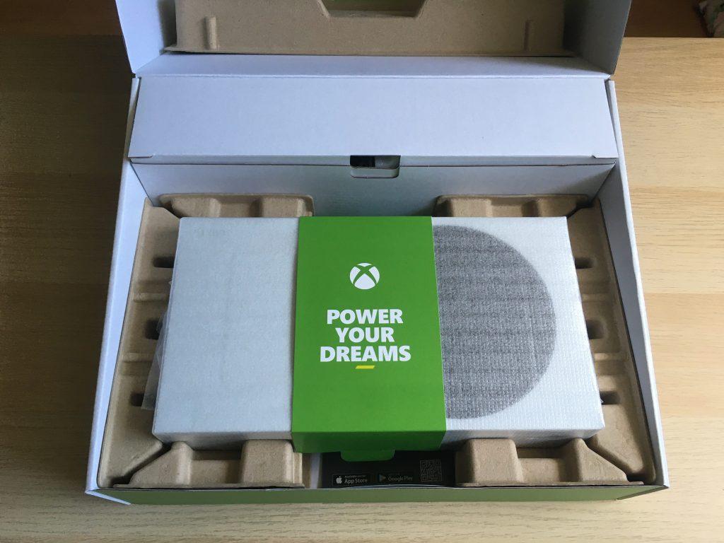 Xbox series s retail box inside 1