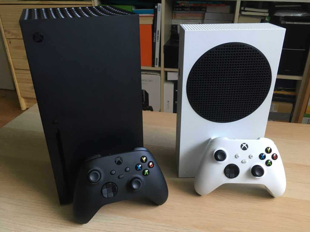 Xbox Series X And Xbox Series S With Controllers