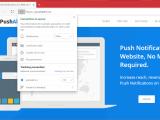 Microsoft edge chromium web push notifications cropped