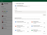Microsoft planner intelligent file suggestions