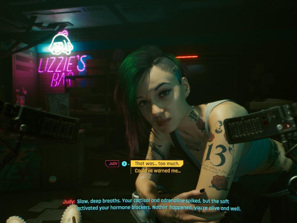 Cyberpunk 2077 judy the braindance editor
