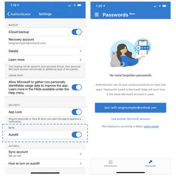 Microsoft Authenticator Ios New Autofill Experience