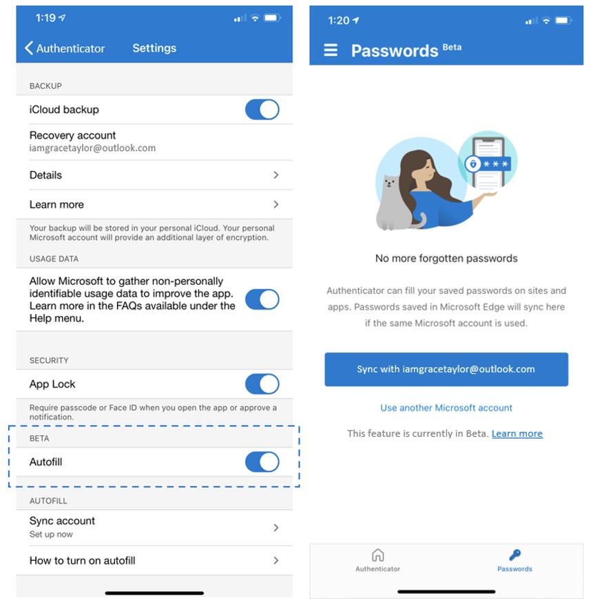 Microsoft Authenticator Ios New Autofill Experience