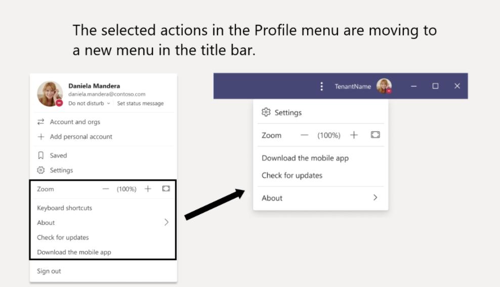 Microsoft teams reorganized settings