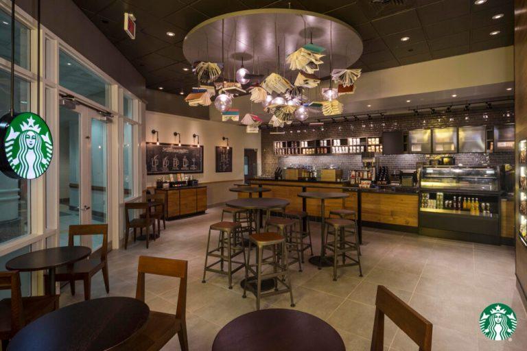 Starbucks Virtual Backgrounds Flying Books George Mason University 1024x683 1