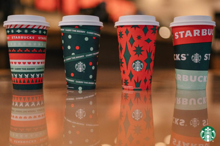 Starbucks Virtual Backgrounds Holiday Cups 1024x683